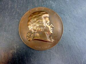 seltene alte Relief Plakette Bronze Mozart Arnold Hartig signiertes Sammlerstück