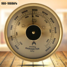 "Vintage Alloy Bronze 960~1060hPa Barometer Weather Station Dia. 5.2"" Thick 20mm"