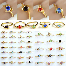 50/100pcs Wholesale Jewelry Mixed lots Zircon Crystal Rhinestone Gold P Rings