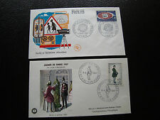 FRANCE - 2 enveloppes 1er jour 1967 (journee timbre/uer) (cy79) french
