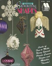 Shimmering Shapes Plastic Canvas Patterns Christmas Ornaments Annie's Attic NEW