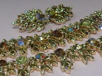 Jewelcraft signed rare vintage parure earrings necklace and bracelet by Coro