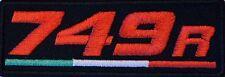 749R IRON ON PATCH Aufnäher Parche V2 brodé patche ducati toppa V-Twin SPORT