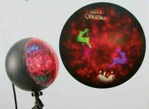 "Christmas LED Light Show Reindeer Projector Plus Kaleidoscope ""Merry Christmas"""