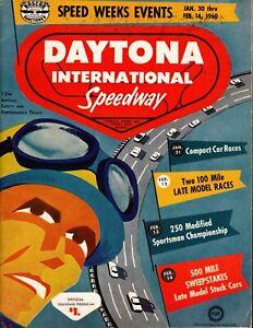 1960 NASCAR Speed Weeks Daytona 500 Auto Race Program Junior Johnson