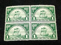 US Stamps Scott#614 Mint NH OG Block of 4 Huegonot Walloon