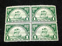 US Stamps Scott#614 Mint NH OG Block of 4 Huegonot Walloon