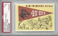 1959 Topps football card #111 San Francisco 49ers Pennant graded PSA 7
