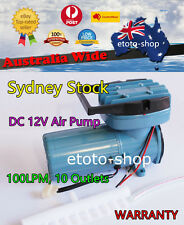 12V DC Solar Fish Pond Hydroponics Aquaculture Air Pump 100L/Min