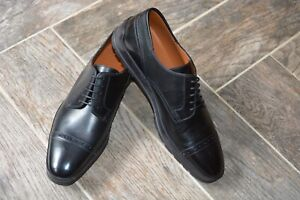 STUNNING Black Leather Derby Dress Shoes BALLY Reigan 10.5 Swiss Made $550 NEW