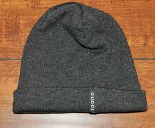 Gucci Wolle Seide Blend Beanie Mütze Made in Italy $390