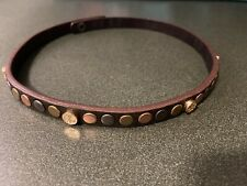 Tory Burch Leather Studded Double Wrap Bracelet Snap Closure Excellent Conditon