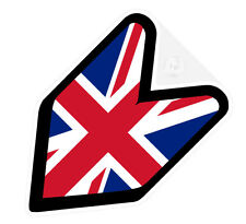 # JDM WAKABA BADGE UNITED KINGDOM UK BRITAIN Car Decal Flag not vinyl sticker #