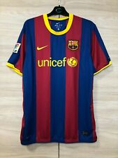 Barcelona Barca 2010-2011 Home Football Shirt Nike Soccer Jersey Unicef size XL