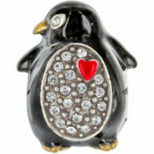 New BRIGHTON Pave Christmas PENGUIN Bead Charm for your Bracelet or Necklace