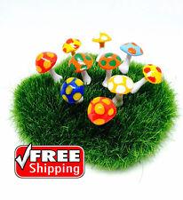10 Pcs.mix colors  mushrooms Dollhouse Fairy Garden Accessories Free Ship