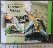 Mozambique 2012 reptiles turtles giant tortoises lonesome george s/sheet