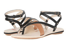 New Tsubo BRENLEIGH Leather Women Sandals Size 10 blk
