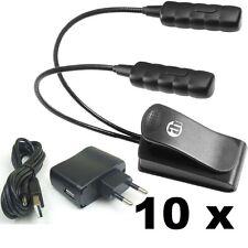 10 x Ultrahelle Flexilight Minilight Klemmlampe Schwanenhalslampe + Trafo & USB
