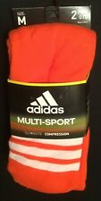 2 pairs Adidas over-the-calf soccer socks ORANGE mens 5-8.5 M medium women 5-9.5