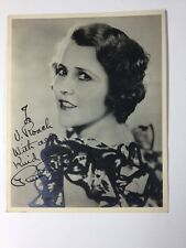 Rare Early Ruth Roland Autograph On Sepia Toned 8 X 10 Photo