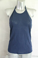 top backless cotton linen blue STELLA MC CARTNEY size 42 new/LABEL val €