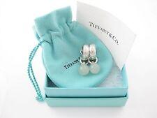 Tiffany & Co RARE Silver Green Aventurine Stone Fascination Clip On Earrings!
