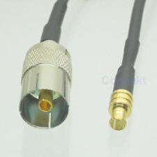 "IEC DVB-T female to MCX male 6"" RG174 cable Stick Adaptor Antenna USB TV-Tuner"
