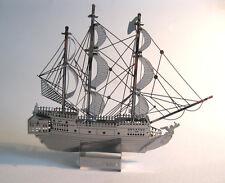 Pirate Ship Metal Model Black Pearl Laser Cut Office Desktop Decor
