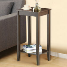 Tall End Table Coffee Stand Nightstand Plant Telephone Vase Stand Drawer Living
