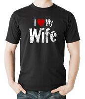 I Love My Wife T-Shirt Gift For Husband T Shirt Shirt Tee Father's Day Gift