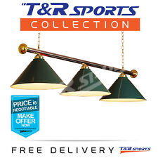 GREEN METAL POOL BILLIARD SNOOKER TABLE LIGHT CLASSIC LAMP FREE DELIVERY
