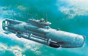 u-Boat Type Xxviib Seehund (Late), WWII German Midget Submarine 1:3 50 Model