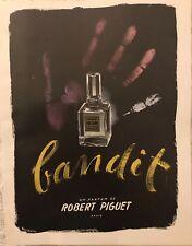 """BOUIDOIRES """"BANDIT""""  II UN PARFUM DE ROBERT PIGUET PARIS  AFFICHETTE"""