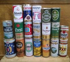 Lot of 19 Pull Tab Vintage Beer Cans from the 1970s - Mostly Imports/Foreign