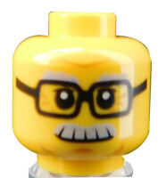 Lego 10 Stück einfarbiger Kopf in orange unbedruckt Neu plain 3626c City Basics