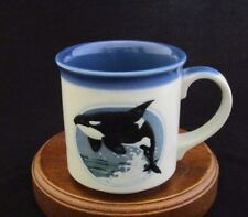 "OMC Otagiri Fine Ceramic ""Killer Whale"" Mug Made in Japan"