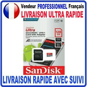 Carte mémoire Micro SD 16 32 64 128 200 400 Go SDXC SANDISK Originales SANDISK