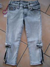 (129) Nolita Pocket Girls used look Jeans Hose Reißverschluß Beine Nieten gr.104