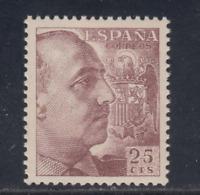 ESPAÑA (1949) NUEVO SIN FIJASELLOS MNH - EDIFIL 1048 (25 cts) FRANCO - LOTE 2