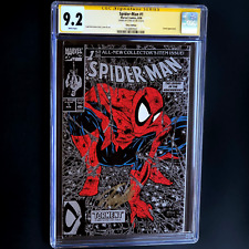 SPIDER-MAN #1 SILVER EDITION 💥 SIGNED STAN LEE! 💥 CGC SS 9.2 Amazing 1990