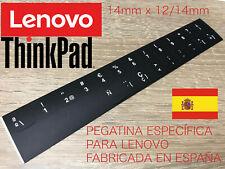 Pegatina Teclado LENOVO THINKPAD IDEAPAD Español FORMA REDONDEADA 14mm x 12/14mm