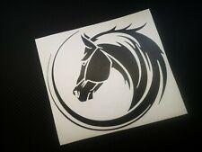 HORSE HEAD SWIRL  car/bumper/window/trailer/horsebox vinyl sticker/decal