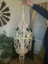"""Vintage Large Macrame Hanging Planter Plant Holder 50"""" Hand Made"""