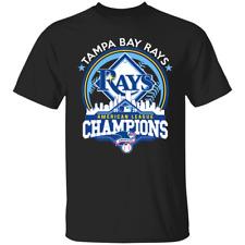 Men's Tampa Bay Rays 2020 American League Champions Baseball T-shirt M-3XL