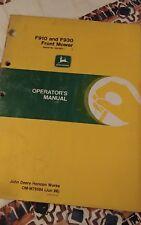 John Deere F910 F912 F930 F932 Operators Manuals