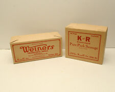 Vintage Advertising K&R Inc Weiners Box and Pure Pork Sausage