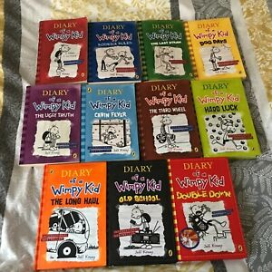 Diary Of A Wimpy Kid Book Bundle x11 Hardback Paperback The First 11 Books