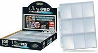 100 x Ultra PRO 9-Pocket Platinum SECURE Binder Album Folder Pages Card Standard