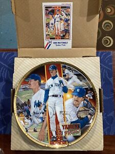"Sports Impressions ""Yankee Pride"" Don Mattingly Collector Plate ~ KEPT IN BOX!"